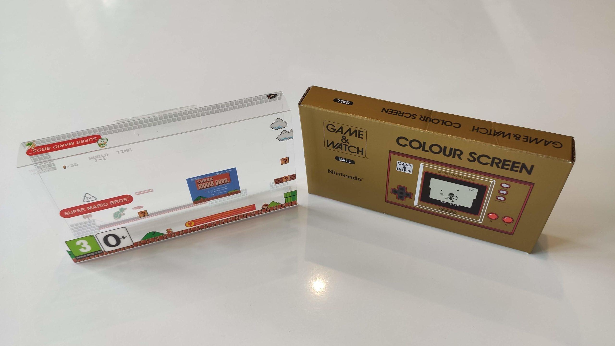 emballage plastique et carton de la console